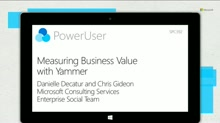 Measuring Business Value with Yammer