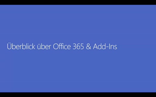 Office 365 Add-Ins - 01 - Überblick über Office 365