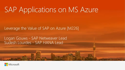 Leverage the Value of SAP on Azure