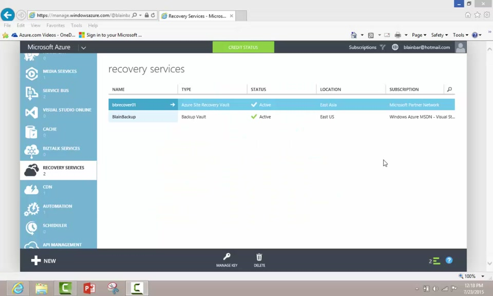 Azure Backup Vault Creation