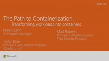 Walk the path to containerization – transforming workloads into containers