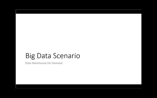 VideoBigDataScenario2: Data Warehouse On Demand
