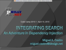 Integrating Search: An Adventure Into Dependency Injection