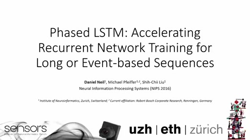 Phased LSTM: Accelerating Recurrent Network Training for Long or Event-based Sequences