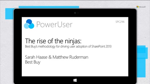 Best Buy: The rise of the ninjas-a SharePoint 2013 user adoption story
