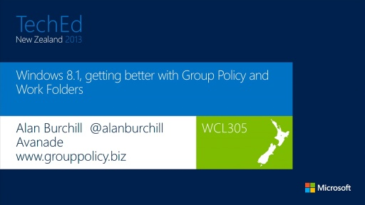 Windows 8.1, getting better with Group Policy and Work Folders