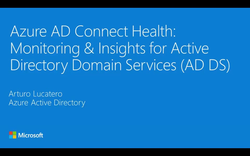 Azure AD Connect Health monitors on-premises AD Domain Services