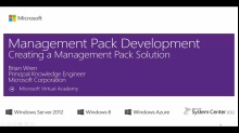 (Module 3) Creating a Management Pack Solution
