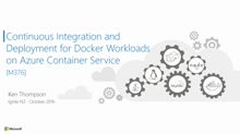 Continuous Integration and Deployment for Docker Workloads on Azure Container Service