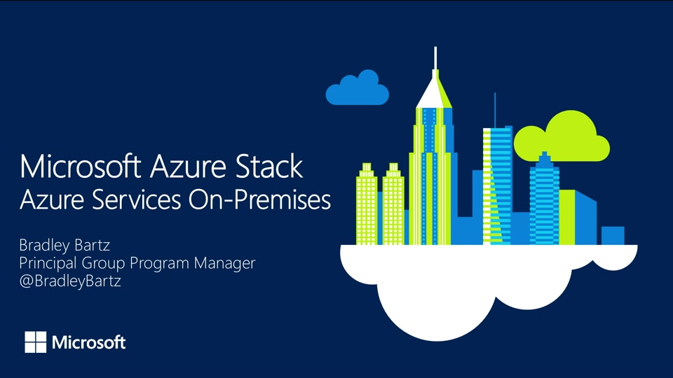 Microsoft Azure Stack Azure Services On Premises The Azure Stack Channel Channel 9