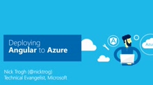 Deploying Angular to Azure