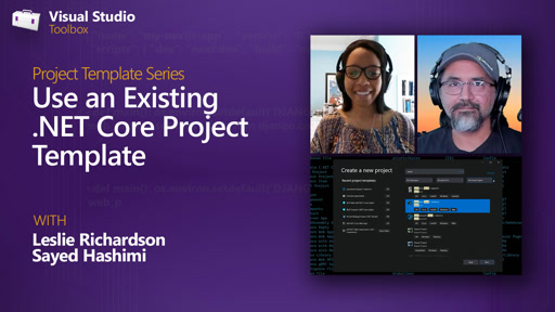 Use an Existing .NET Core Project Template