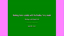 Ranking items scalably with the Bradley-Terry model