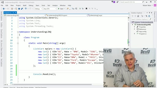 Working with LINQ