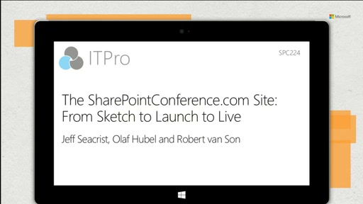 The SharePointConference.com Site: From Sketch to Launch to Live!