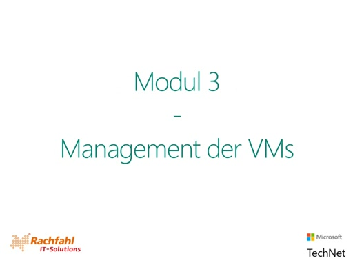 Management der VMs