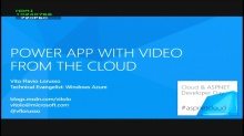 Power app with video from the Cloud - registrazione incompleta