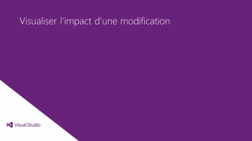 Visual Studio Ultimate 2012: Visualisation de l'impact d'une modification