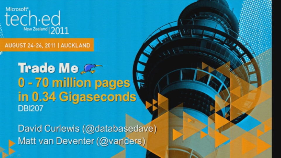 Trade Me: 0-70 million pages in 0.34 Gigaseconds