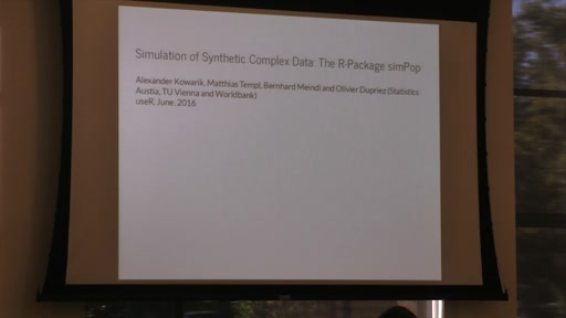Simulation of Synthetic Complex Data: The R-Package simPop