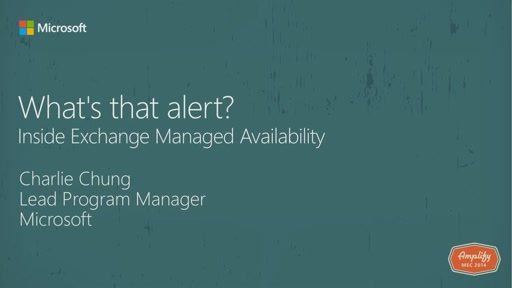 What's that alert - Exchange Managed Availability