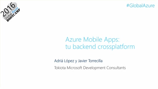 Azure Mobile Apps como backend crossplatform.
