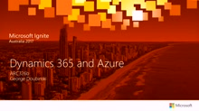 Dynamics 365 and Azure
