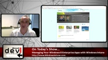 Microsoft DevRadio: Managing Your Windows 8 Enterprise Apps with Windows Intune