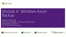 (Module 4) Windows Azure Backup