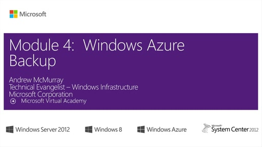 (04) Windows Azure Backup