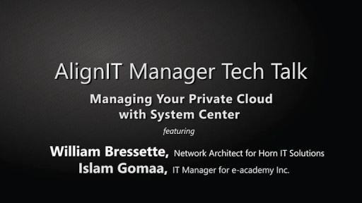 AlignIT Manager Tech Talk: Private Cloud