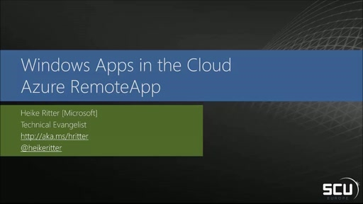 Windows Apps in the Cloud - Azure RemoteApp