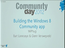 Building the Windows 8 Community App
