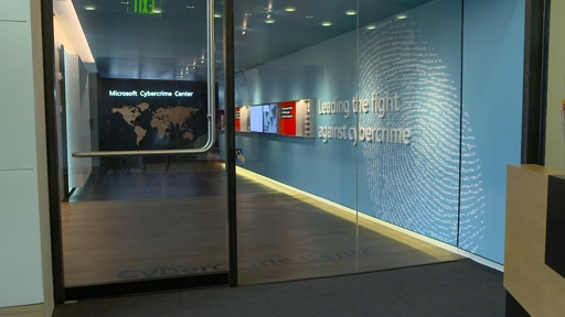 B-roll:  Microsoft Cybercrime Center Unveiled