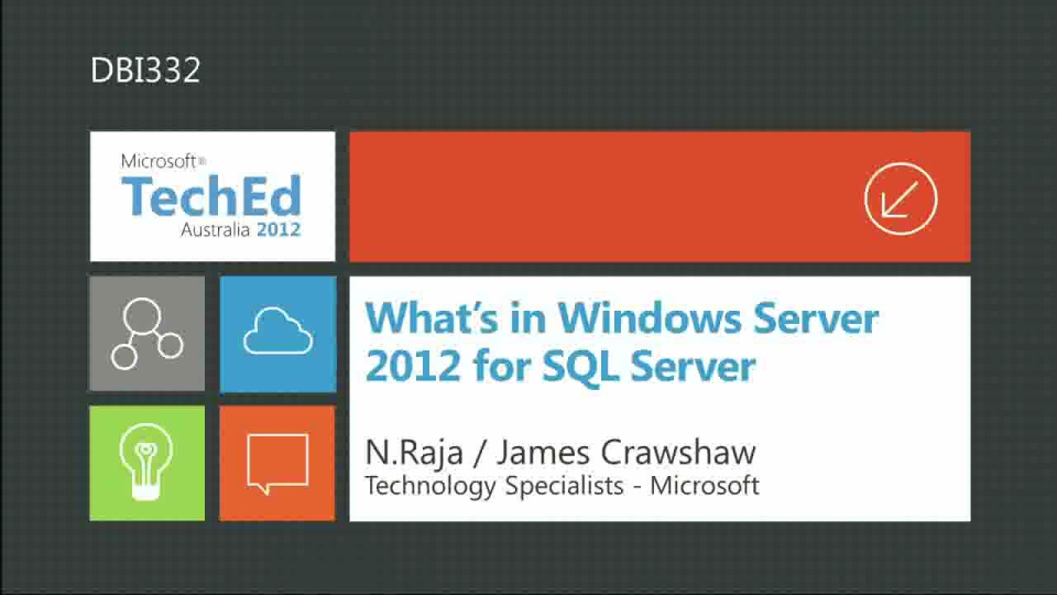 Whats in Windows Server 2012 for SQL Server