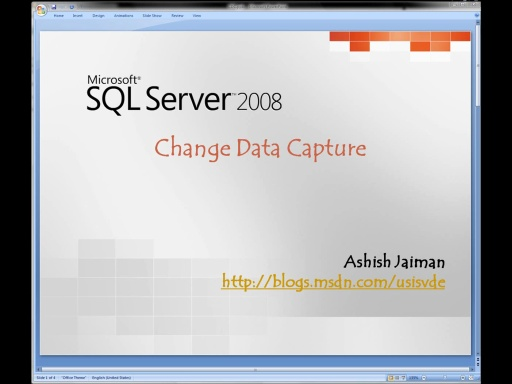 CDC - Change Data Capture SQL Server 2008
