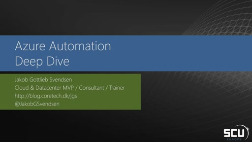 Azure Automation – Deep Dive