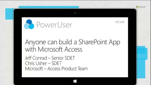 Anyone can build a SharePoint App with Microsoft Access