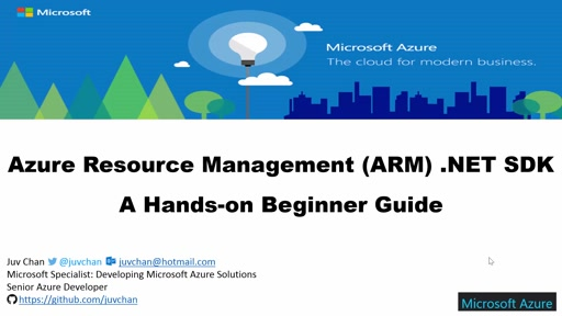 02 Juv Chan -Azure Resource Management (ARM) .NET SDK - A Hands-on Beginner Guide