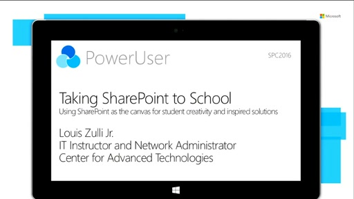 Using SharePoint as the canvas for student creativity and inspired solutions