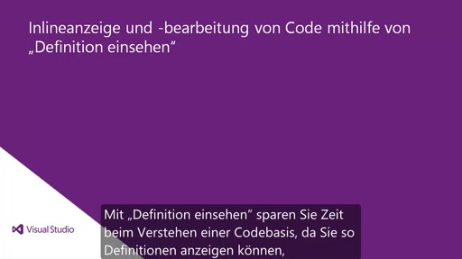 Visual Studio 2013 Ultimate: Definition einsehen