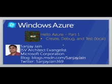 Windows Azure – How Do I: Hello Azure (Part 1)