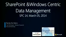 CommVault: Windows Centric Data Management for the Hybrid Environment