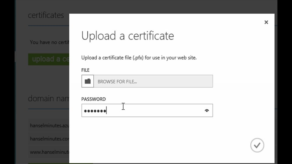 How does SSL work in an Azure Web Sites