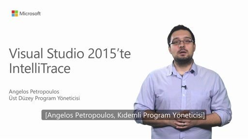 Visual Studio 2015'te IntelliTrace Deneyimi