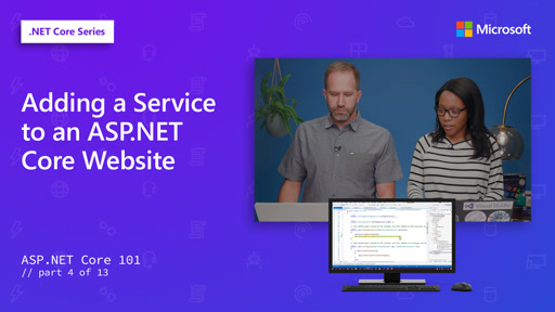 ASP.NET - Adding a Service to an ASP.NET Core Website [4 of 13]