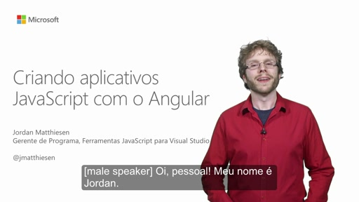 Criando aplicativos JavaScript com o Angular
