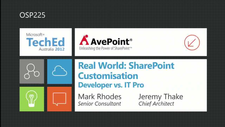 Real World: SharePoint Customisation – Developer vs. IT Pro