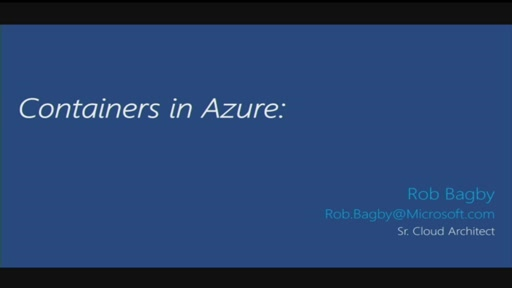 Containers in Azure