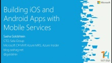 Building iOS and Android Apps with Mobile Services